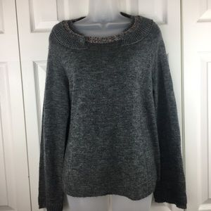 Anthropologie Knitted Knotted  Pullover Size M